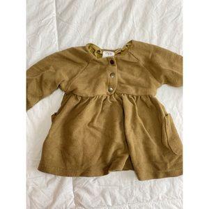 Zara Baby || Knitted Army Green Sweater Dress